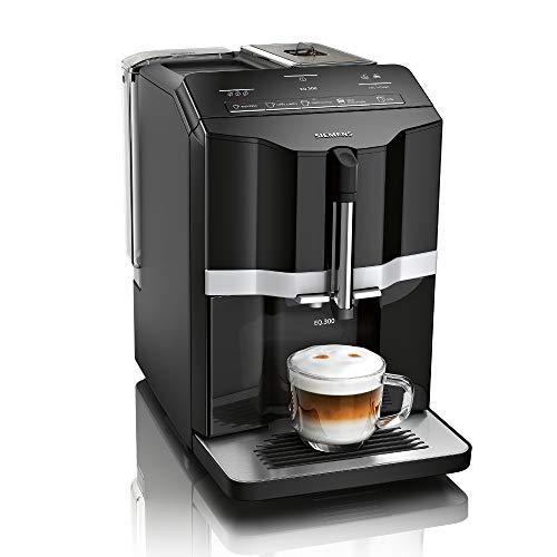 Siemens EQ.300 Kaffeevollautomat TI351509DE, kompakte Größe, einfache Bedienung, 1.300 Watt, schwarz