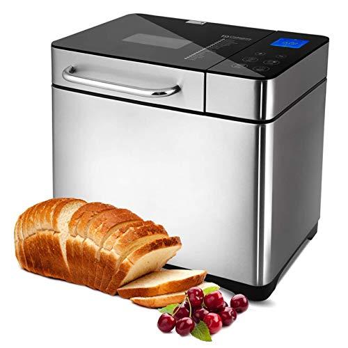 Brotbackautomat 710W Backmeister mit Automatische Zutatenbox, 19 Programme, Edelstahl Bread Maker...