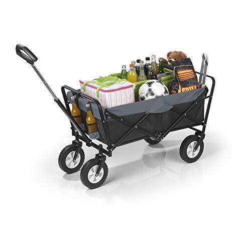 EASYmaxx Bollerwagen klappbar | Transportwagen mit Aufbewahrungstasche, verstärkter Achse und Gestell...