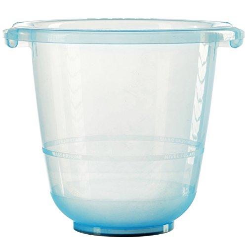 tummy tub das Original - Badeeimer kippsicher, rutschfest und schadstofffrei, blau, für Kleinkinder