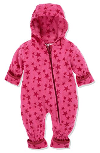 Playshoes Baby-Unisex Fleece-Overall Sterne Schneeanzug, Rosa (Pink 18), 86
