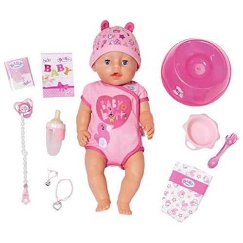 Zapf Creation 824368 BABY born Soft Touch Girl Puppe mit lebensechten Funktionen und viel Zubehör, bewegliche...