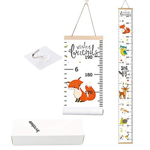 Bingolar Kinder Messlatte Wachstum Wall Chart Höhe Diagramm Art zum Aufhängen Herrscher für Kinder...