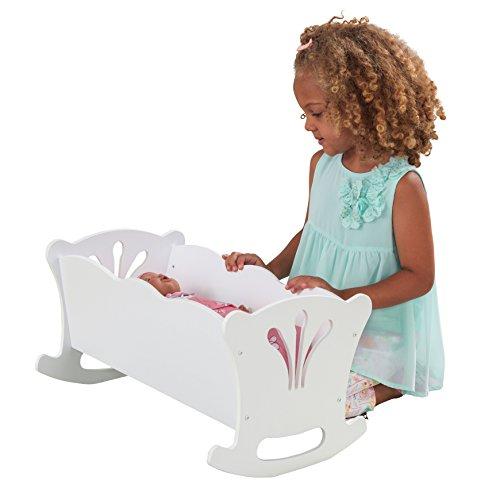 KidKraft 60101 Kleine Puppenwiege Lil'Doll Möbelstück für das Schlafzimmer, Weiß