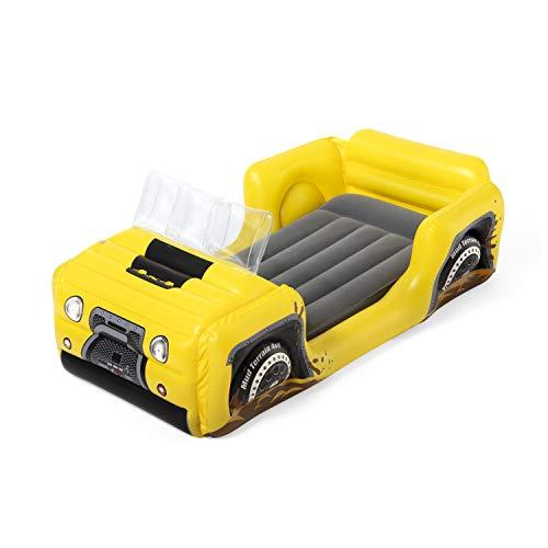 Bestway Unisex Jugend Up, In & Over Kinder Luftbett 4X4 Truck zum Reisen oder als Gästebett, 160 x 84 x 62...