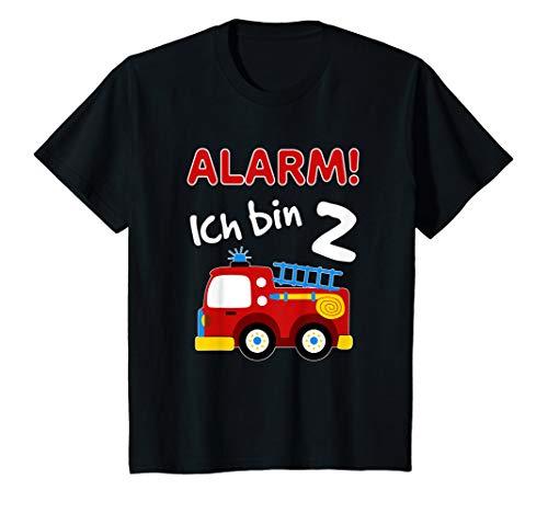 Kinder Feuerwehrauto T-Shirt 2. Geburtstag Jungen 2 Jahre Shirt