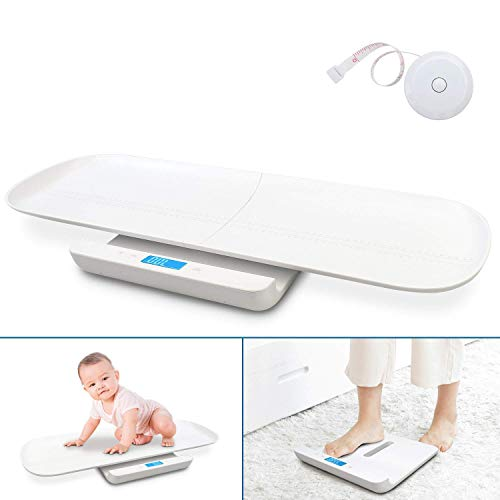 Sotech Personenwaage digital USB-Ladung, 2 in 1 Multifunktionale Babywaage mit abnehmbarer Schale,...