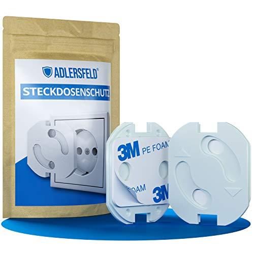Adlersfeld® - Steckdosen Kindersicherung - [20 Stück] - Steckdosenschutz zum Kleben - Steckdosensicherung...