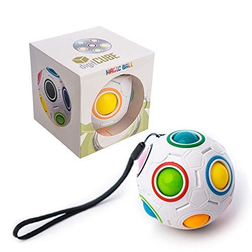 digitCUBE – Magic Ball Puzzle - Regenbogenball Spielzeug - Geschicklichkeitsspiel mit 12 Kugeln für...