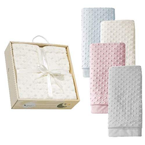 Babydecke Mädchen Junge creme Kuscheldecke Baby Erstlingsdecke Set Decke super-weich Erstausstattung Geschenk...
