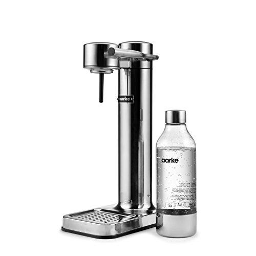 Aarke Carbonator II Wassersprudler (Edelstahl Gehäuse, Soda Sprudelwasser, inkl. BPA-freie PET-Flasche ,...