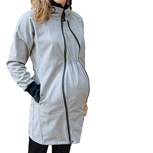 manduca by MaM Tragemantel  Softshell Light Coat HeatherGrey  Tragejacke (Langjacke/Kurzmantel),...