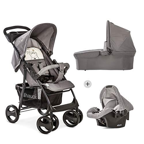 Hauck Disney Kombi Kinderwagen Shopper SLX Trio Set / inkl. Baby Wanne mit Matratze / Reise System mit...