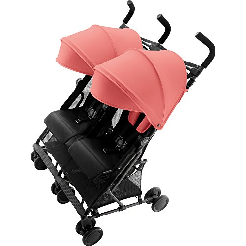 Britax Römer Buggy 6 Monate - 3 Jahre I 15 kg pro Sitz I HOLIDAY DOUBLE I Coral Peach