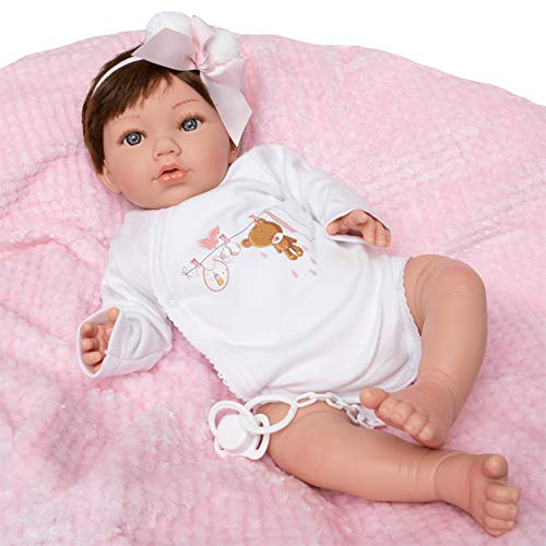MARÍA JESÚS Reborn Baby Silikon Vinyl Reborn Puppe 2kg und Head Drop Effekt Reborn Baby mädchen dekoriert...
