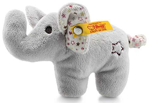 Steiff Mini Knister-Elefant mit Rassel - 11 cm - Plüschelefant mit knisternden Ohren & Rassel - Kuscheltier...