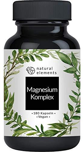 Magnesium Komplex - Premium: Aus 5 hochwertigen Verbindungen - 400mg elementares Magnesium pro Tagesdosis -...