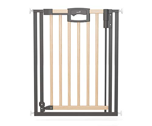Geuther Türschutzgitter Easylock Plus - Türschutzgitter Easylock Wood Plus aus Holz mit Metalrahmen in...