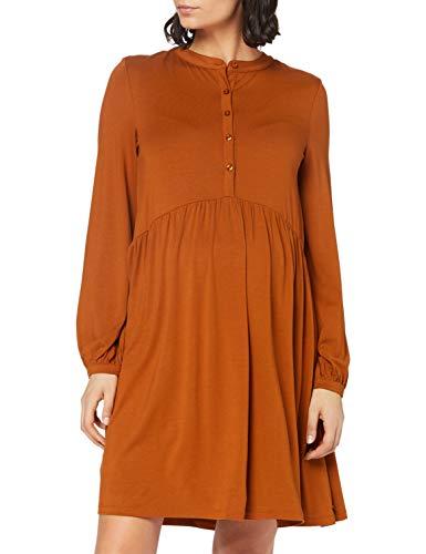 ESPRIT Maternity Damen Dress Nursing ls Kleid, Toffee Brown-252, S