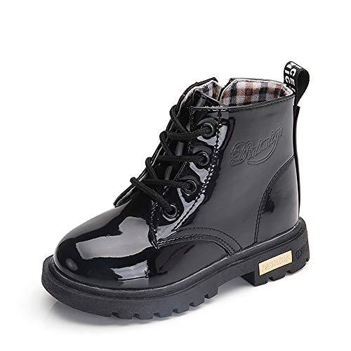 Kinder Jungen Knöchelhoch Stiefel Kunstleder Rutschfest Schuh Winter Herbst Warm