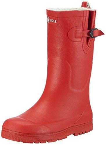 Aigle Unisex-Kinder Woodypop Fur Gummistiefel Rot (Cerise 8) 24 EU