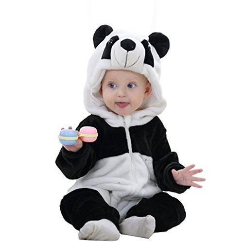 MICHLEY Baby mädchen und Junge Flanell Frühling Strampler Pyjama kostüm Bekleidung Karikatur Tier Jumpsuit...