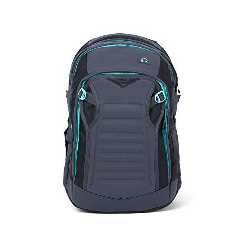 satch Match, Mint Phantom ergonomischer Schulrucksack, erweiterbar auf 35 Liter, extra Fronttasche