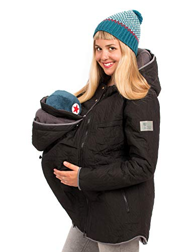 Viva la Mama 3in1 Umstandsmode Tragejacke mit Einsatz Winterumstandsjacke Damen Wintermantel schwanger Nevada...
