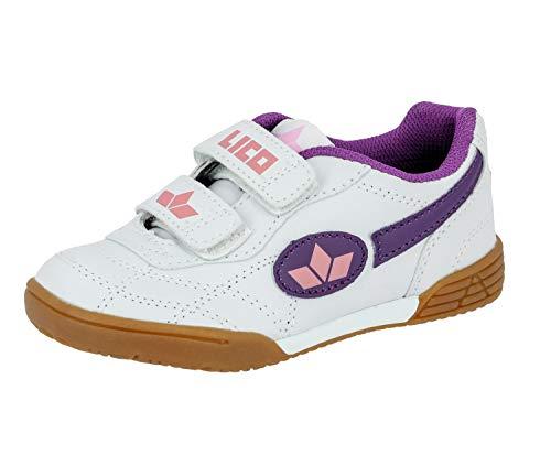Lico Bernie V Mädchen Multisport Indoor Schuhe, Weiß/ Lila/ Rosa, 33 EU