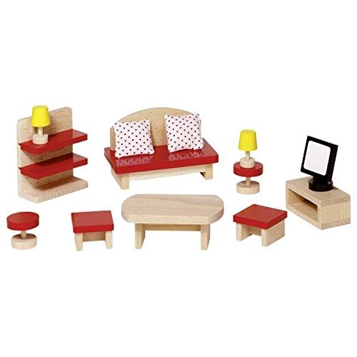 Goki 51716 Puppenmöbel Wohnzimmer, Basic