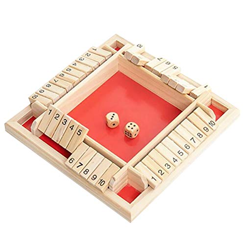Shut The Box Würfelspiel, Holz-Brettspiel, Holz-Sudoku-Puzzle-Brett, Shut The Box-Würfelspiel,...
