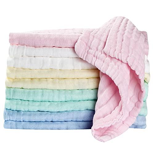 Baby Musselin Waschlappen tuch Baby Mullwindeln Spucktücher baby-Handtücher Weiche Neugeborene Baby...