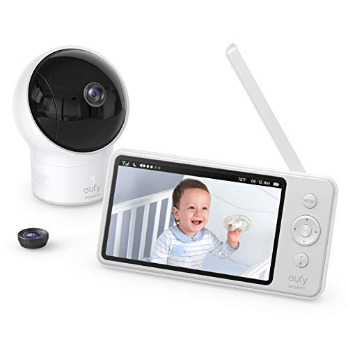 eufy Security SpaceView Babyphone mit 5 Zoll LCD-Display, 720 HD, 140m Reichweite, Weitwinkelobjektiv,...