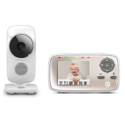 Motorola MBP667CONNECT Video-Babyphone mit 7,1 cm (2,8 Zoll) Handheld-Einheit und WLAN-Hubble-App für...