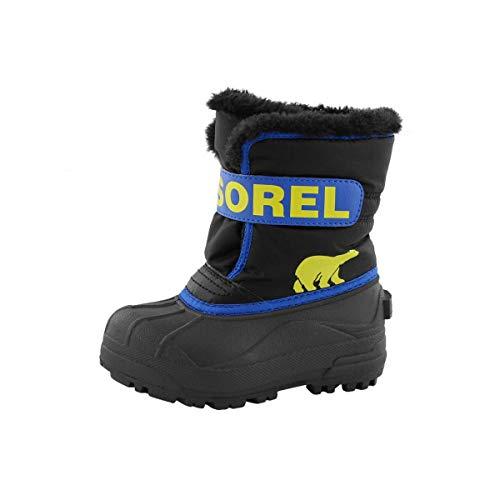 Sorel Unisex-Kinder-Winterstiefel, CHILDRENS SNOW COMMANDER, Schwarz (Black, Super Blue), Größe: 27