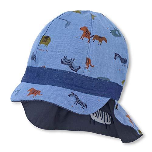 Sterntaler Baby Jungen Wende-Schirmmátze M.nackensch. 1602140 Winter Hut, Blau, 49 EU