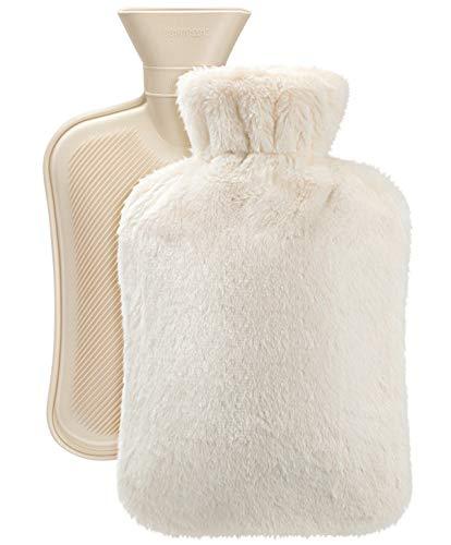 Vintoney Wärmflasche mit weichem Fleeceüberzug Bettflasche sorgt für Wärme und Komfort, ein tolles...