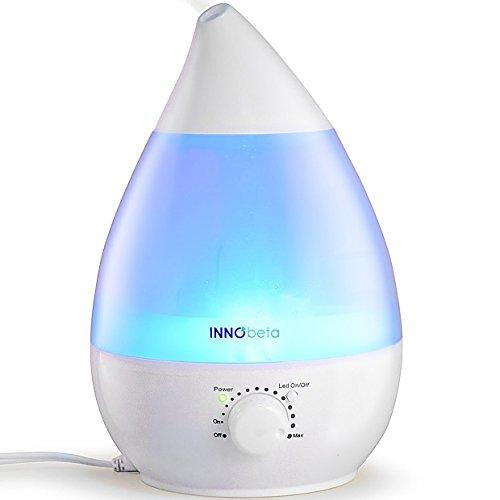 InnoBeta Waterdrop 2,4 Liter Ultraschall Luftbefeuchter Cool Mist mit Filter für Babys, Kinder, Die Ganze...