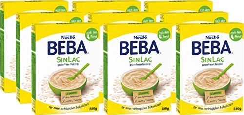 Nestlé BEBA SINLAC glutenfreier Reisbrei, sojafrei, milchfrei, Pulver, 9er Pack (9 x 250g)