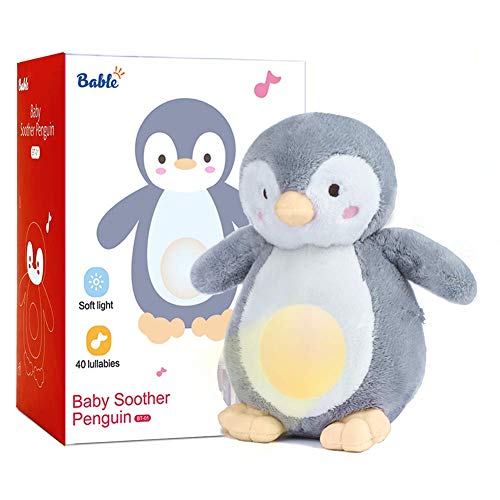 Bable Baby Geschenk, Baby Spielzeug Schlafhilfe Nachtlicht Beruhigende Sound-Maschine & Babyparty-Geschenk,...