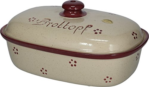 """Brottopf (Steinzeug """"Rubin"""" * Kleiraba-Steinzeug wird bei ca.1.250 °C in energiesparenden Erdgas-B)"""