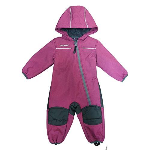 Outburst - Baby Kinder Mädchen Softshell-Overall Schneeanzug gefüttert wasserdicht 10.000 mm Wassersäule...