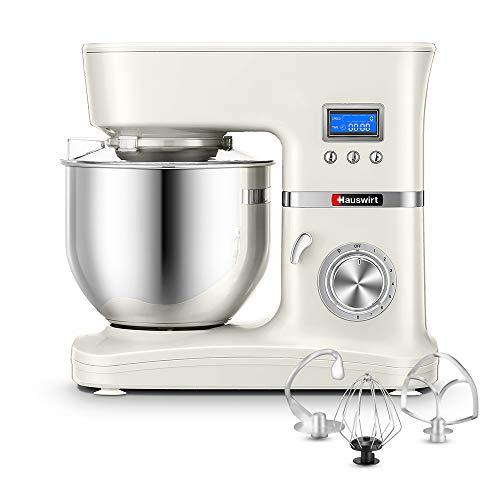 Hauswirt Küchenmaschine Multifunktional Knetmaschine 5L Edelstahl-Rührschüssel 8 Geschwindigkeit 1000W...