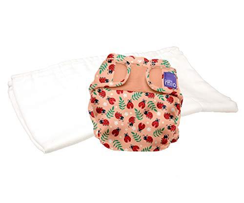Bambino Mio, miosoft zweiteilige windel (probepackung), warmherziger marienkäfer, Größe 1 (