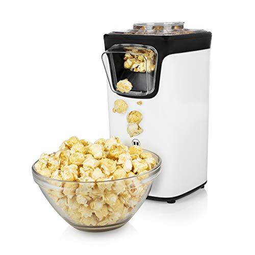 Princess Popcornmaschine - Popcorn per Heißluft, mit transparentem Deckel, Nachfüllöffnung, 1100 Watt,...