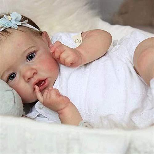 Chang Reborn Puppe Vollsilikon Mädchen Junge,Reborn Baby Puppe Lebensecht Die Sehr Echt Aussehen Vollsilikon...