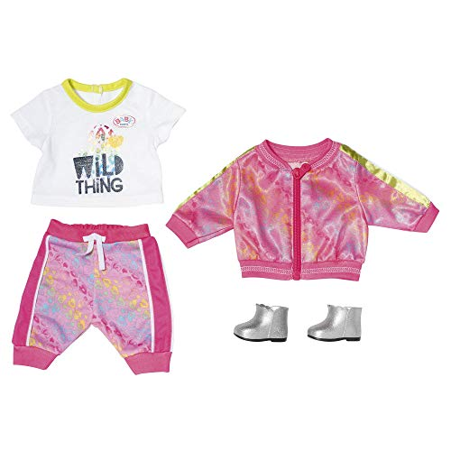 Zapf Creation BABY Born Puppenkleidung - Designerkleidung mit Modeaccessoires - Deluxe Trendy Pink Set