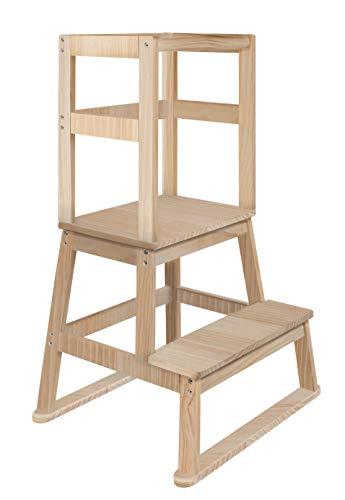 BOMI® Vario Lernturm Kinder Schemel Swubi aus Holz I Lerntower für Kinder ab dem Stehalter | Tower Küche...