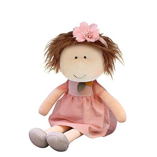 Herbests Kuschelpuppe Weiche Stoffpuppe mit Kleidung und Haaren für Kinder von 0-5 Jahren, Mädchen Geschenke...