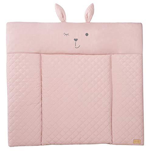 """roba Wickelauflage soft """"roba style"""" rosa, weiche Baby Wickelauflage 85x75 cm, abwischbare..."""